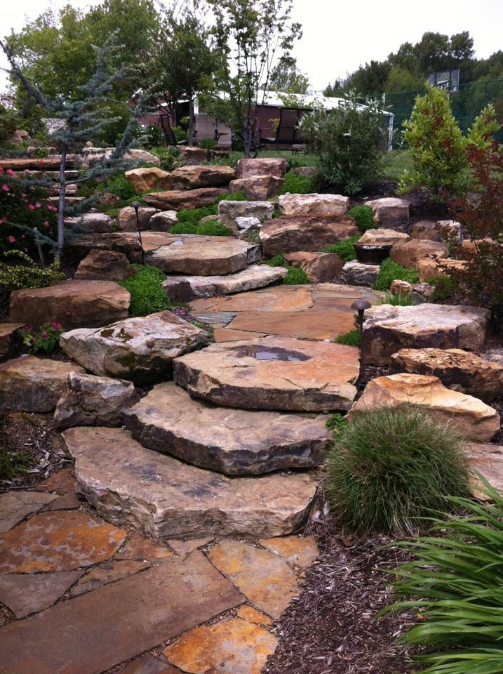 55 Best Images About Stone Slab Steps On Pinterest Path