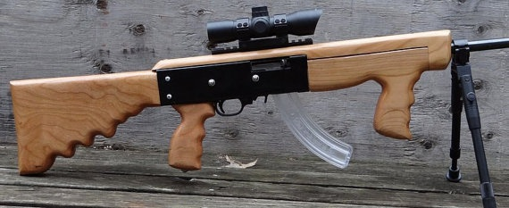 Ruger 1022 22LR With AK Style Wood Stock Ruger 1022