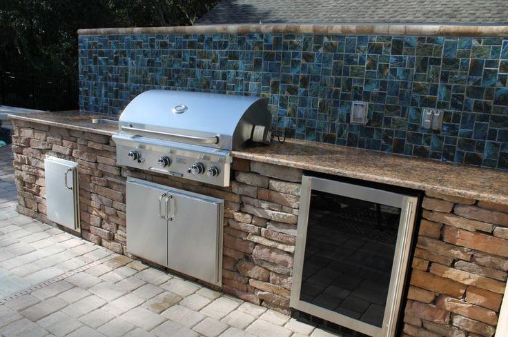 exceptional outdoor kitchen brandon fl with mosaic ceramic tile kitchen backsplash and granite on outdoor kitchen backsplash id=80269