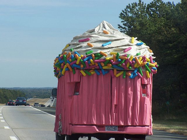 Pink Cupcake Truck -- With Sprinkles