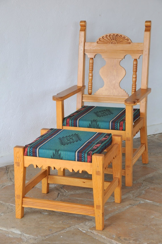 Chair And Footstool Southwestern Style Home Amp Design