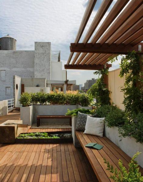 rooftop terrace garden 25+ best ideas about Rooftop Gardens on Pinterest | In
