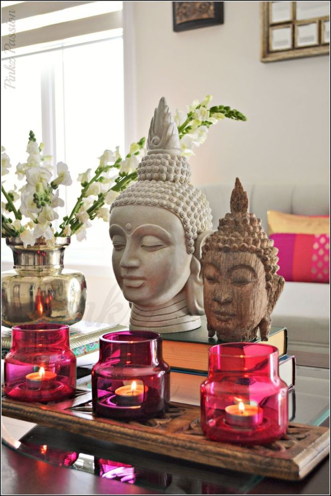 Buddha Décor Heads Snapdragon Flowers Ikea Candle Holders Indian