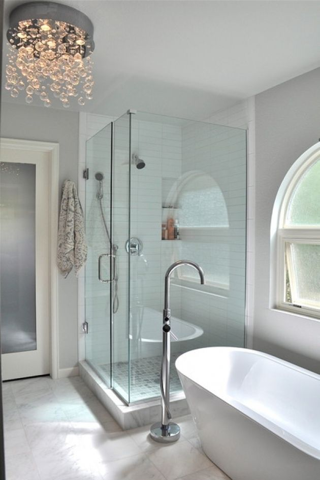 Bathroom Images Free Standing Tub With Glass Enclosed Shower Floor Tub Filler Free Standing