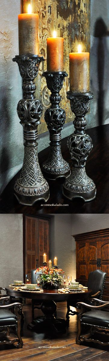Old World Candle Holders For The Tuscan Dining Room Find Them At Accents Of Salado Tuscan