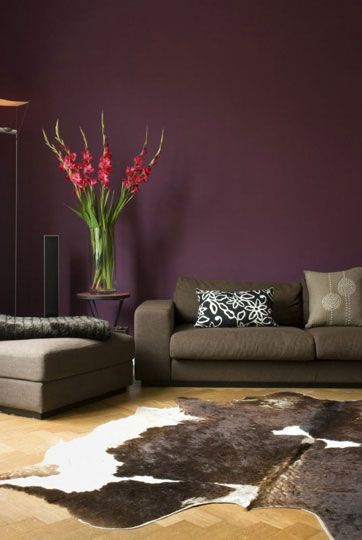 Purple And green Living Room Paint | Purple Living Room Paint Design Ideas | Pho