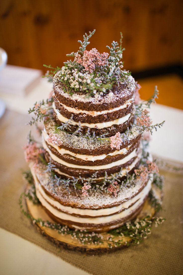 Rustic Wedding Naked Carrot Cake The Perfect Wedding