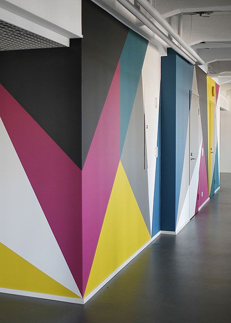 colorful walls geometric for the home pinterest on commercial office colors for walls id=22586