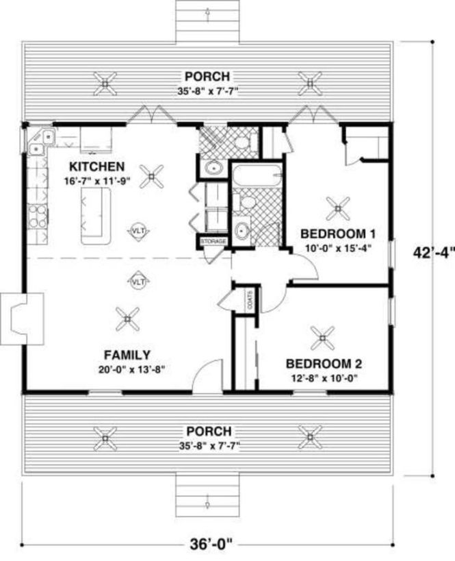 Cottage 2 Beds 1 5 Baths 954 Sq Ft Plan 56 547 Main Floor