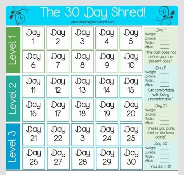 70 best 30 day shred images on Pinterest