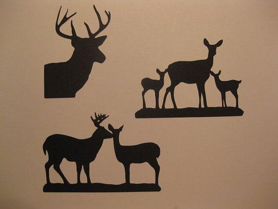 Silhouette Deer Buck Doe Fawn Die Cut Embellishments