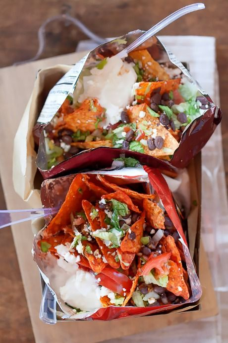 Mexican Street Snacks For The Super Bowl Walking Tacos