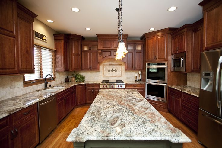 Beautiful Woodridge Kitchen Remodel Cherry Cabinets In