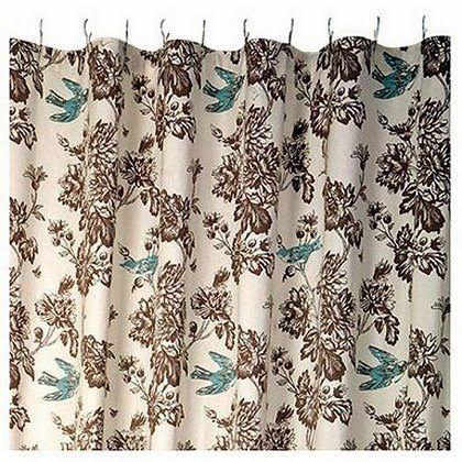 Waverly Toile Curtains WAVERLY WELLINGTON TOILE SHOWER CURTAIN Curtains Valances Curtains