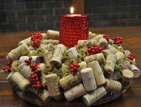 Candle Holder Of Corks
