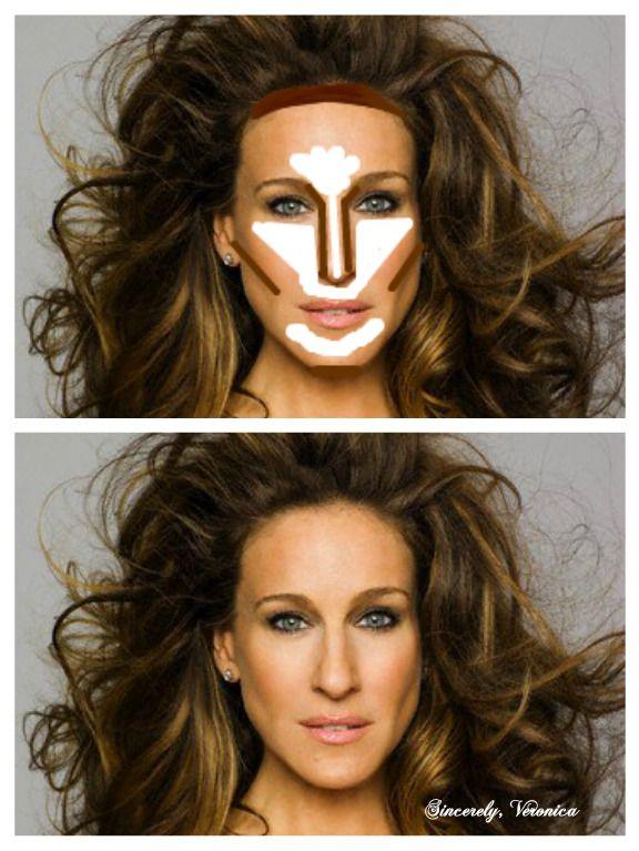 Highlight And Contour Oblong Face Beauty Pinterest