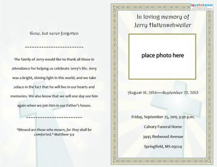 Tombstone Unveiling Invitation Cards Samples – Free Funeral Announcement Template