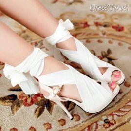 shoes-zapatos de tacon blancos preciosos para ir a un acontecimiento especial! <3