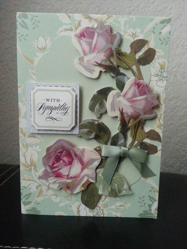 Sympathy Card Using Anna Griffin Garden Window Kit