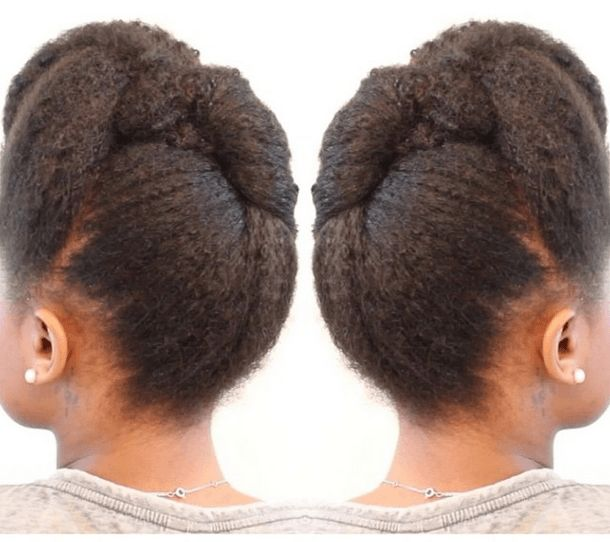 Simple Roll Tuck And Pin Pompadour Styles For Natural