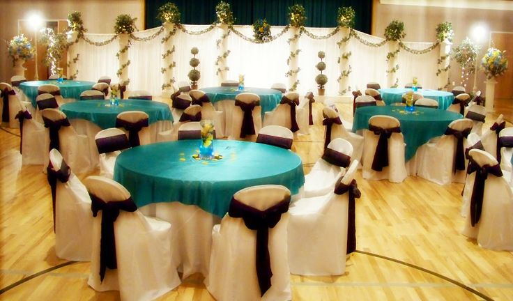 Turquoise And Brown Wedding