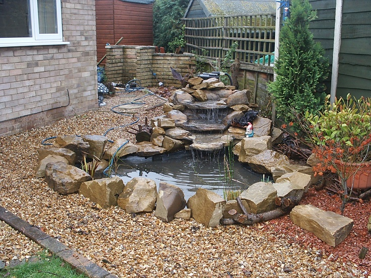 7 best images about Pond & Waterfall Ideas on Pinterest ... on Small Pond Waterfall Ideas id=58516