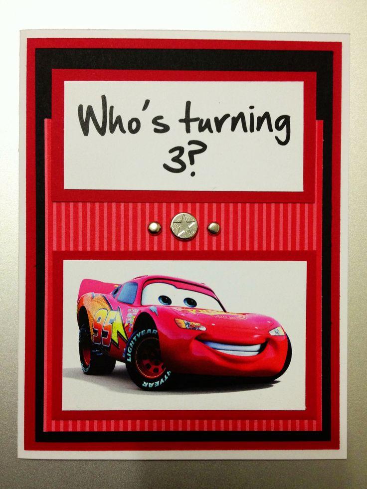 Stampin Up Cars Lightning McQueen Red Birthday Card My