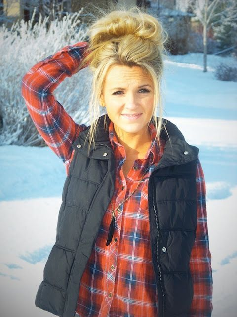 Flannel and puffy vests… Making a comeback!