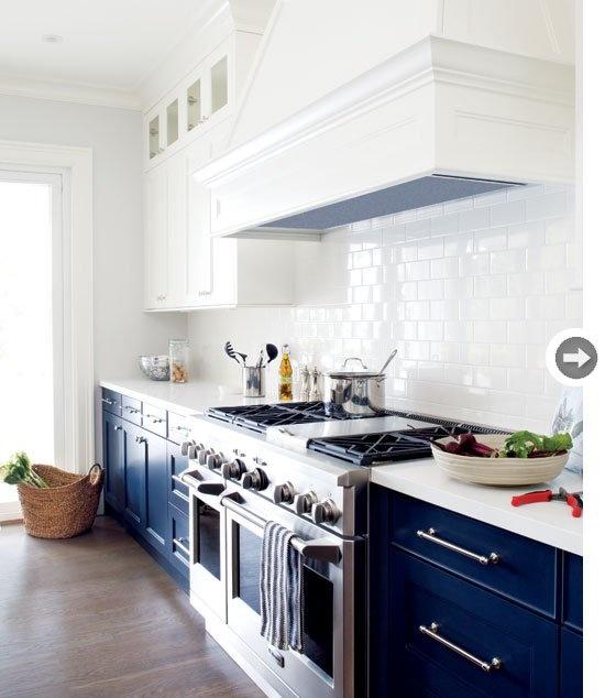 92 best dark blue kitchen images on pinterest on kitchen cabinets blue id=53058