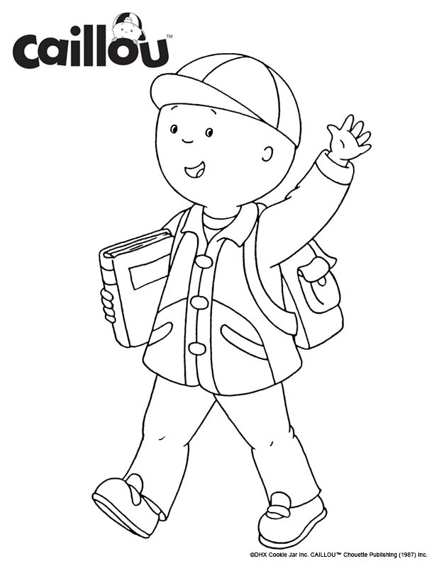 17 best images about caillou coloring fun! on pinterest