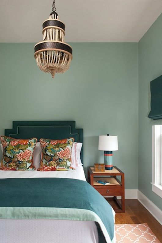 Love This Bedroom Walls Somewhere In The Aqua To Seafoam Colour Chart