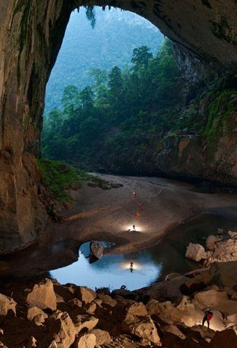 """Hidden in the depths of the Vietnamese jungle lies The Hang Son Doong, part of"