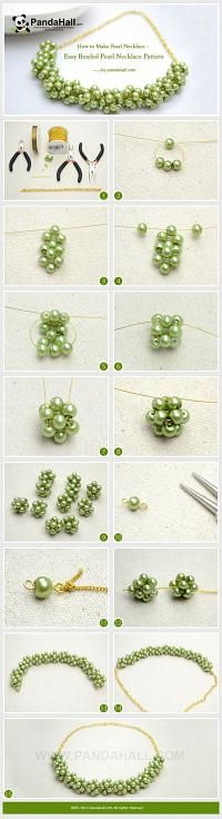 How to Make Pearl Necklace – Easy Beaded Pearl … | Jewelry Making T…
