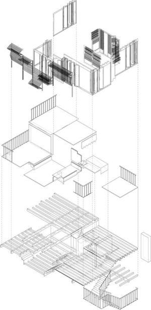 Andrea Giordano Exploded Axon Architectural Diagram