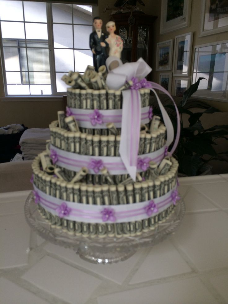 Money Cake Wedding Gift Our Family Pinterest Wedding
