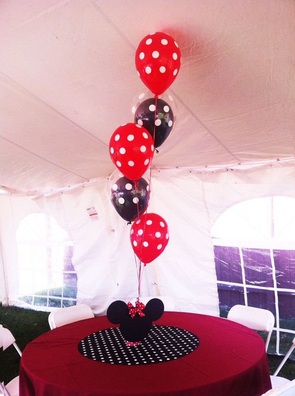 Red Mickey Mouse Party And Birthday Minnie