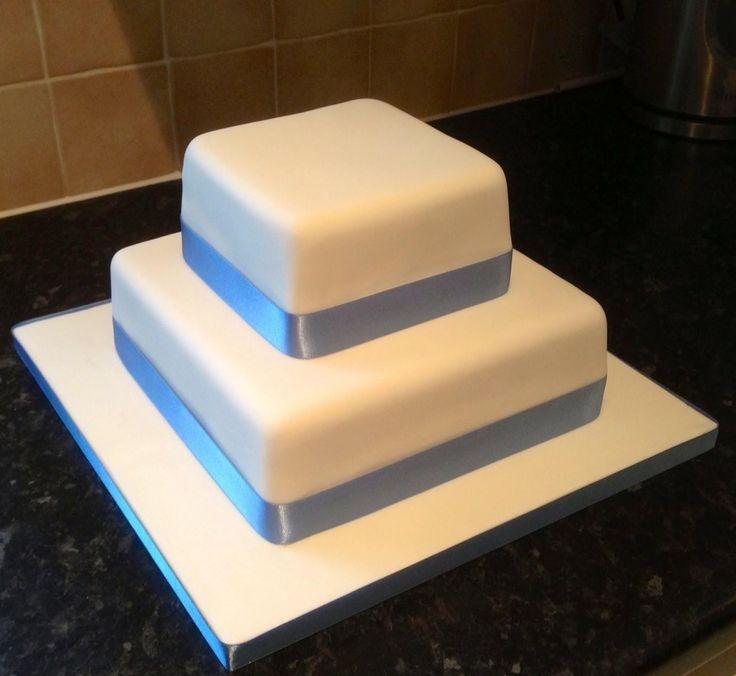 Plain Two Tier Wedding Cake Wedding Cakes By Cake