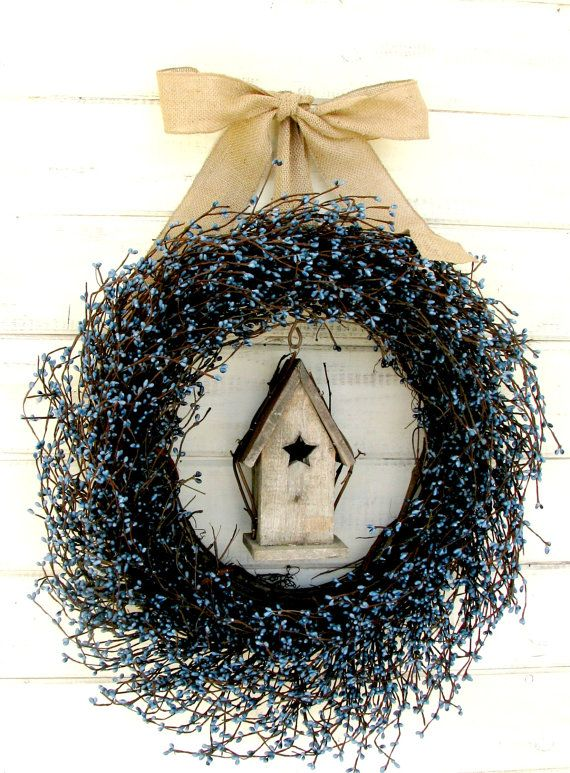 COUNTRY BLUE BIRDHOUSE