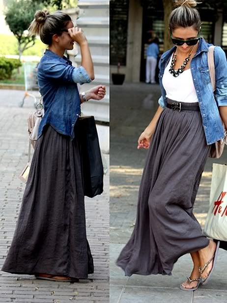 Another fall maxi look. Won