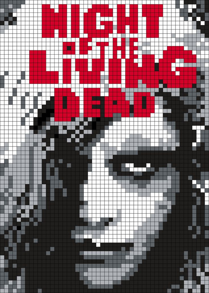 67 Best Images About Horror Movies Pixel ArtPerler Beads