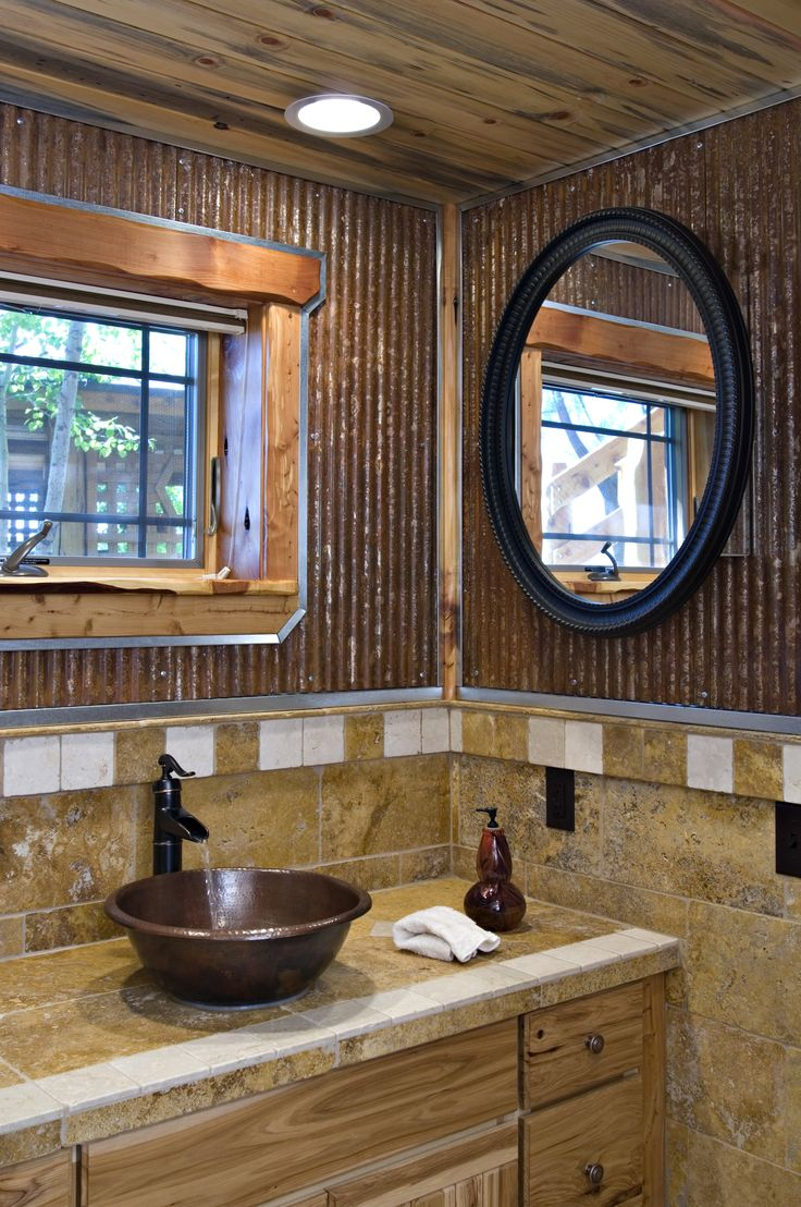 Colored Corrugated Metal Siding Bathroom Wall 1 1 4