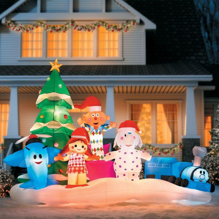 Inflatable Airplane Christmas Santa