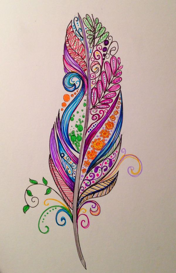 Feather tattoo design by Dina Verplank fireflytattoo.com ...