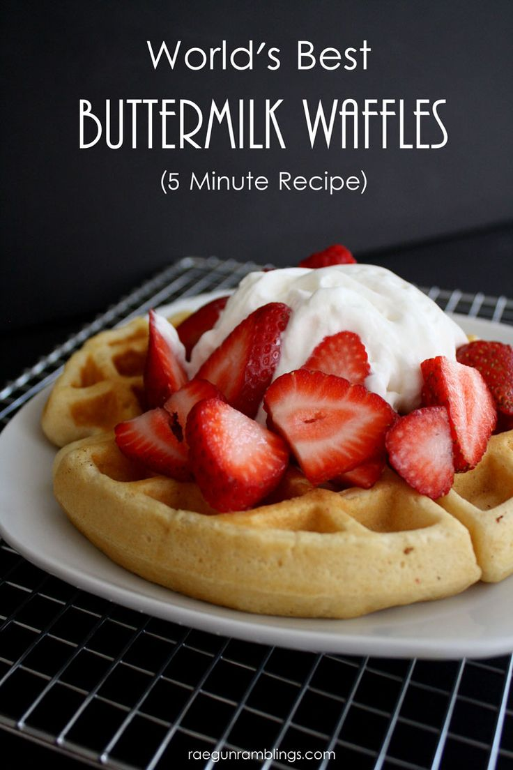 The Best Quick Buttermilk Waffle Recipe are barely crisp on the outside and soft and warm on the inside. I
