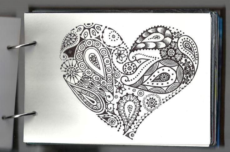 Heart Mandala My Notebook Pinterest Mandala Painting