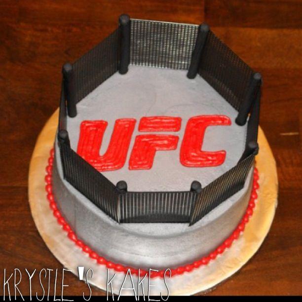 UFC Fighting Octagon Grooms Wedding Cake Cakelife Is