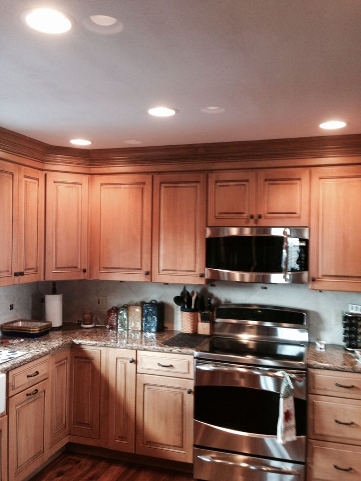 Pictures Of Honey Maple Kitchen Cabinets | Amazing Kitchen ... on Kitchen Countertops With Maple Cabinets  id=48165