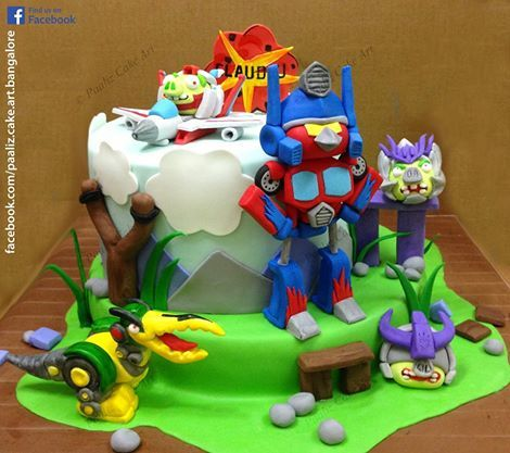 Angry Birds Transformers Cake Crafted By Paaliz Cake Art