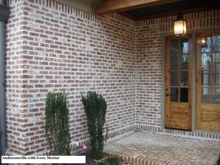 Andersonville Brick With Ivory Mortar House Pinterest