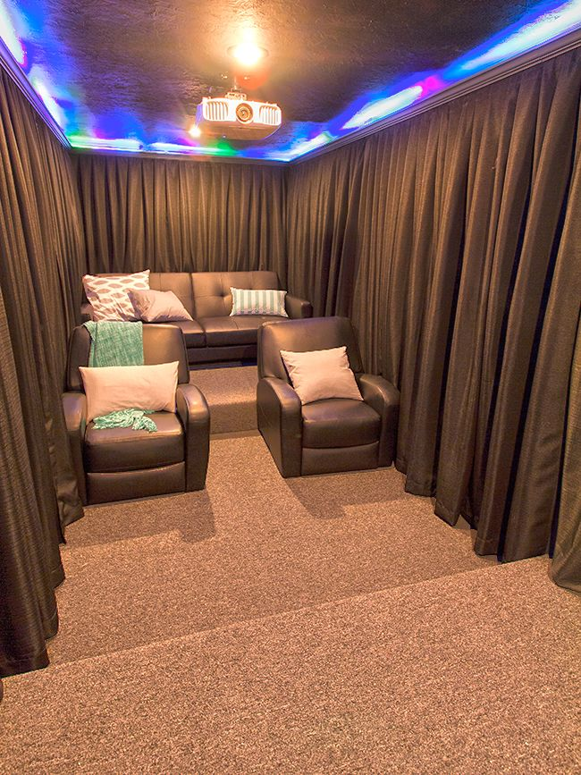 17 Best Ideas About Basement Movie Room On Pinterest